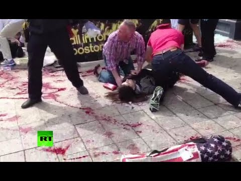 Graphic video: First moments after Boston Marathon blasts