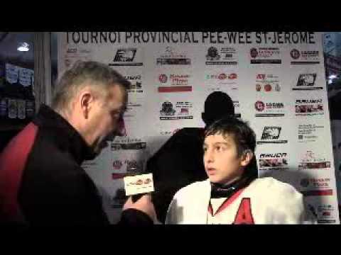 Entrevue Tournoi Provincial Pee-Wee St-Jérôme (Zachary Cloutier)