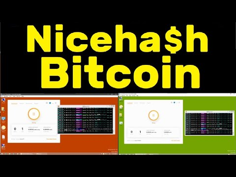 Nicehash Bitcoin Miner Project with 2 Laptops Mining Live BTC (monero) for stats