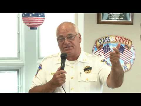 Bergen County Sheriff Michael Saudino talks safety with Saddle Brook seniors