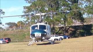 Florida Forestry UH-1H, N122FC, taking off...