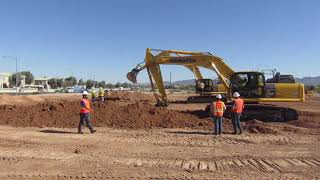 Video still for Komatsu Excavator at Demo Days 2018