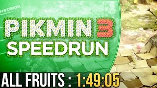Pikmin 3 All Fruits Speedrun in 1:49:05