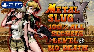 Metal Slug X (PS5) - All Secrets 100% Speedrun Level-8 No Death (4K)