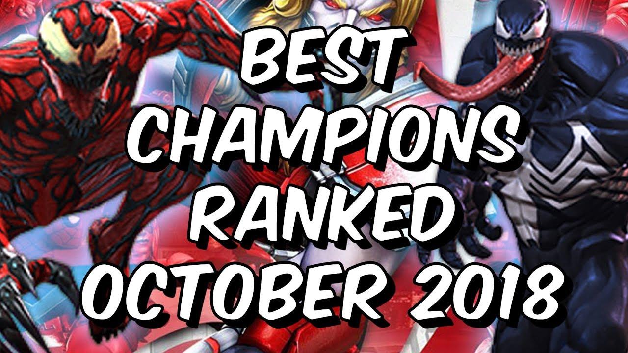 c30edb40090c Best Champions Ranked October 2018 - Seatin s Tier List - Marvel Contest Of  Champions