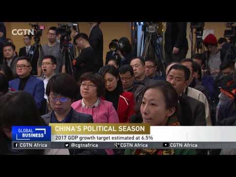 China's political season : 2017 GDP growth target estimated at 6.5%