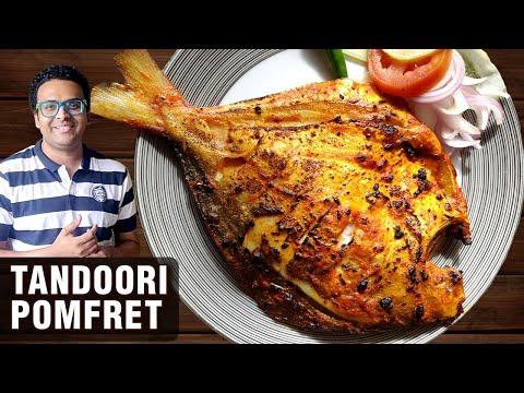 Tandoori Pomfret Recipe | How To Make Tandoori Pomfret At Home | Fish Recipe By Chef Varun Inamdar