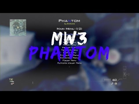 MW3 PHANTOM MOD MENU By Enstone!!! MW3 Gameplay!