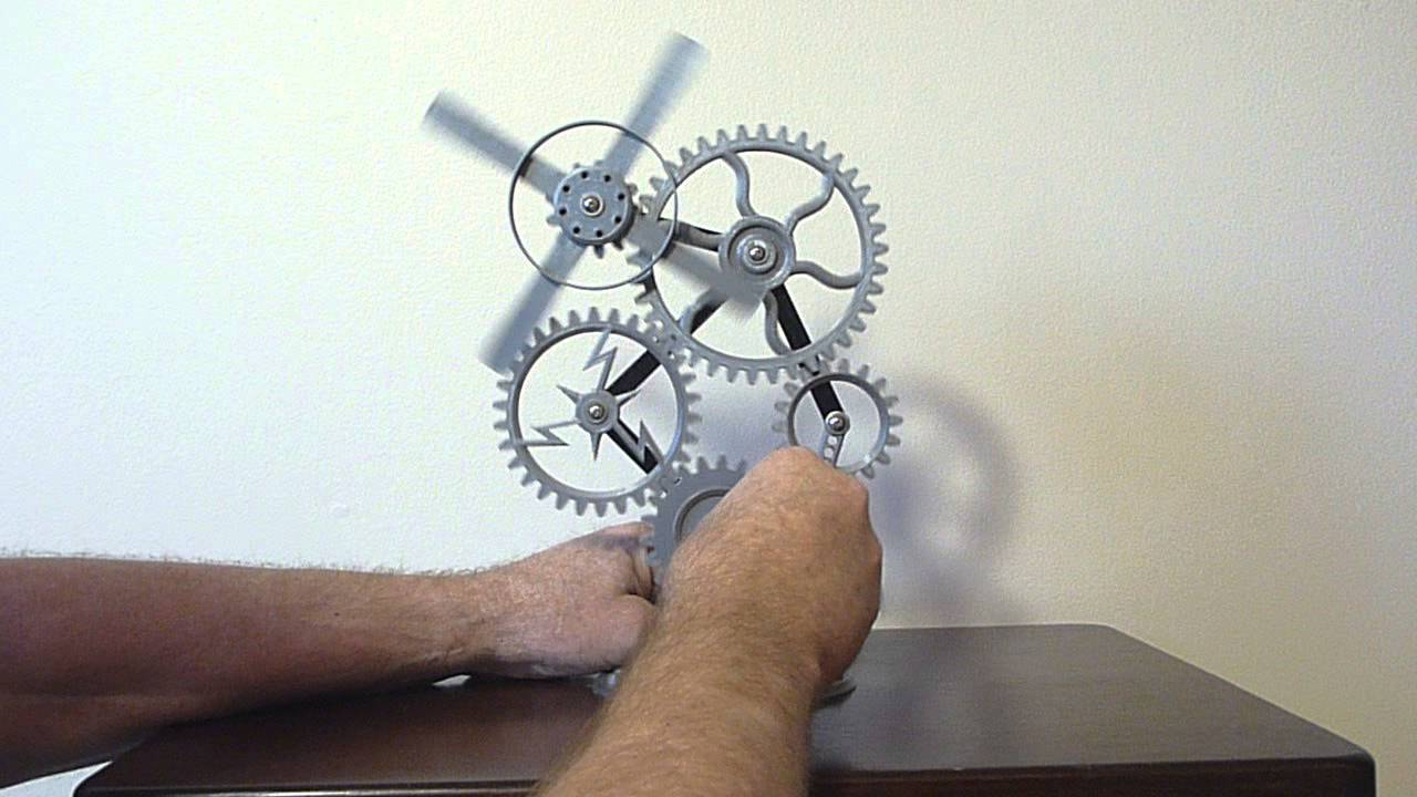 rotating kinetic sculpture steampunk