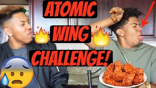 EXTREME ATOMIC WING CHALLENGE!!🔥👅(MUST WATCH!) || ft LAURENCE EVANS