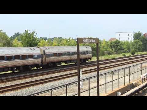 WMATA action at Braddock Rd with VRE and Amtrak(P.M Rush)