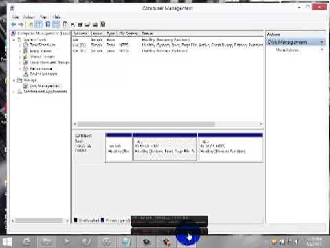 How To Make Local Disc Partition In Windows 8