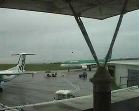 Aer lingus departure from Jersey Airport
