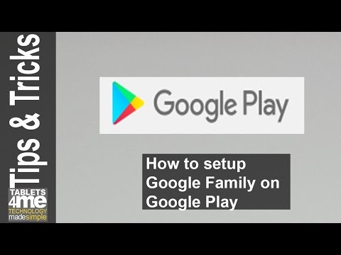 How to setup Google Family to share books, apps, movies and music with your family