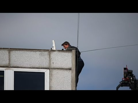 The moment Tom Cruise slams into a building during stunt