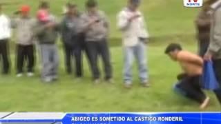 Cajamarca: Abigeo es sometido a castigo ronderil 290415