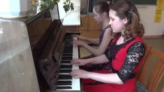 437 Шайсултанова Карина и Арсланова Диана Мелодия из мф «Шрек 2»
