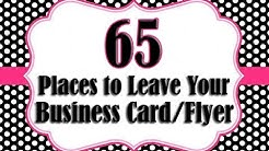 65 Places to Leave a Business Card or Flyer
