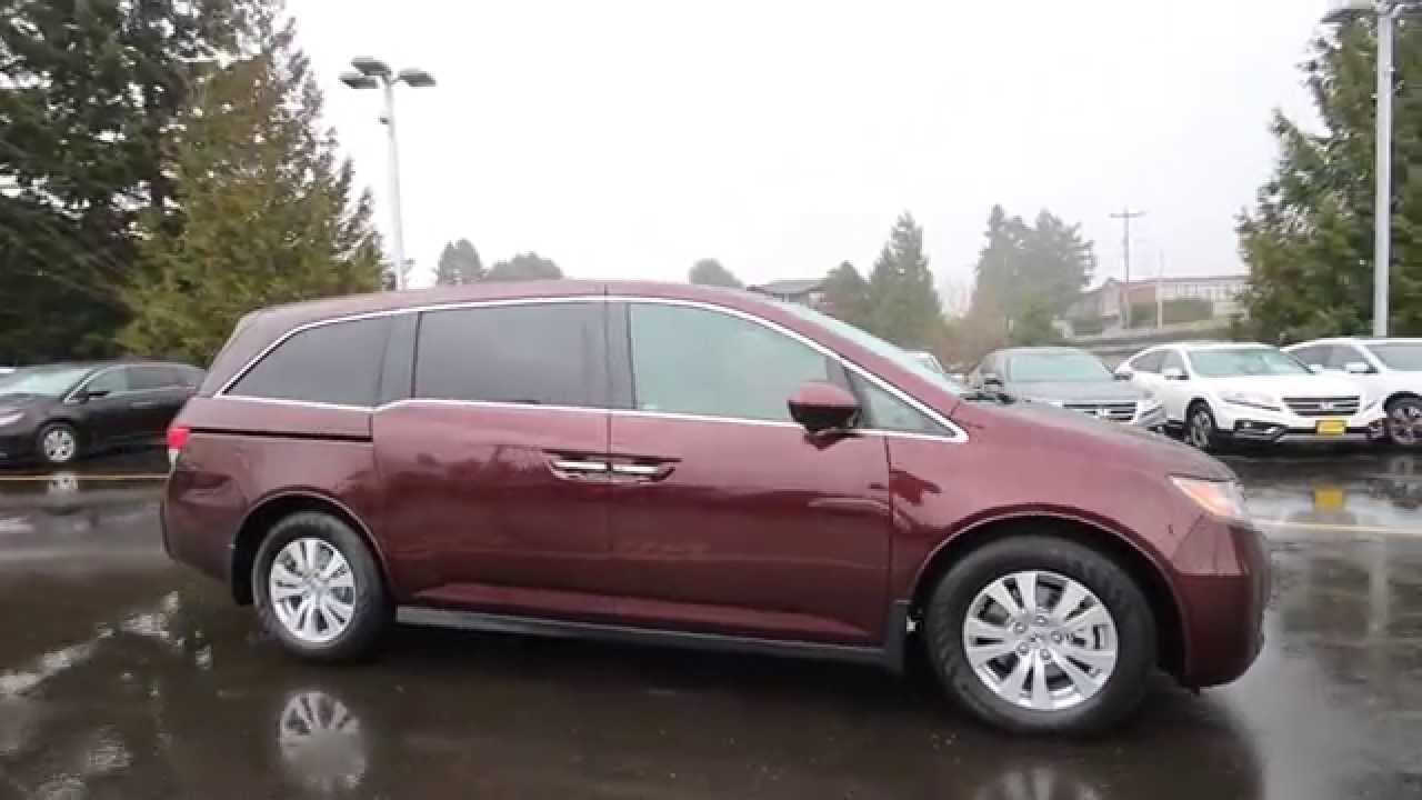 2017 Honda Odyssey Ex L Basque Red Fb064101 Seattle On