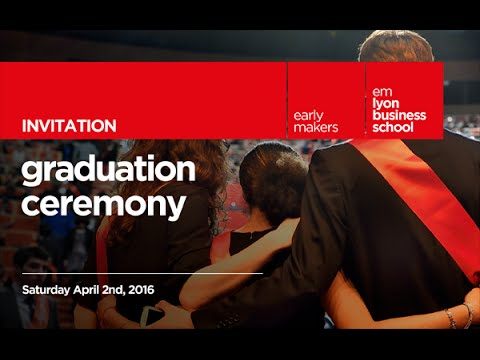 emlyon business school Graduation ceremony