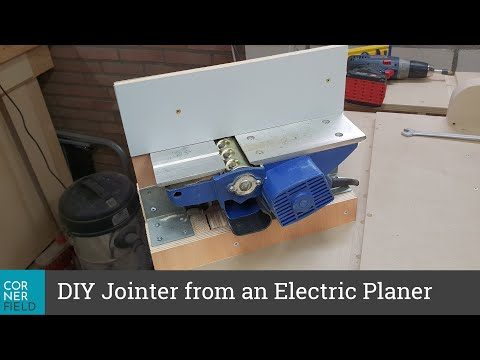 DIY Jointer from an electric planer