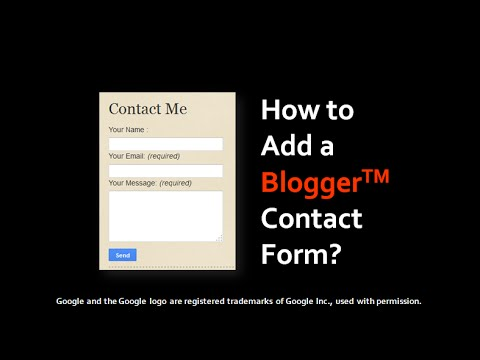 How to Add Contact Form on Blogger