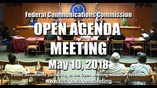 Open Commission Meeting - May 2018 thumbnail