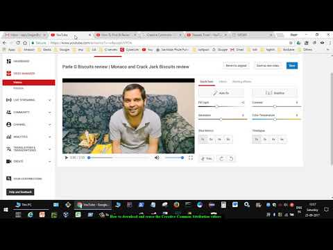 How to download and reuse the Creative Common Attribution videos