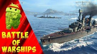⚓ Обзор BATTLE of WARSHIPS - Морские бои, битвы на кораблях на ANDROID | drintik 🎮