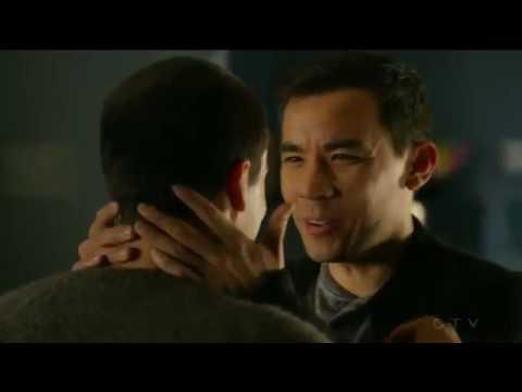Jack Falahee Conrad Ricamora  Gay Kiss   How to Get Away With Murder season 4