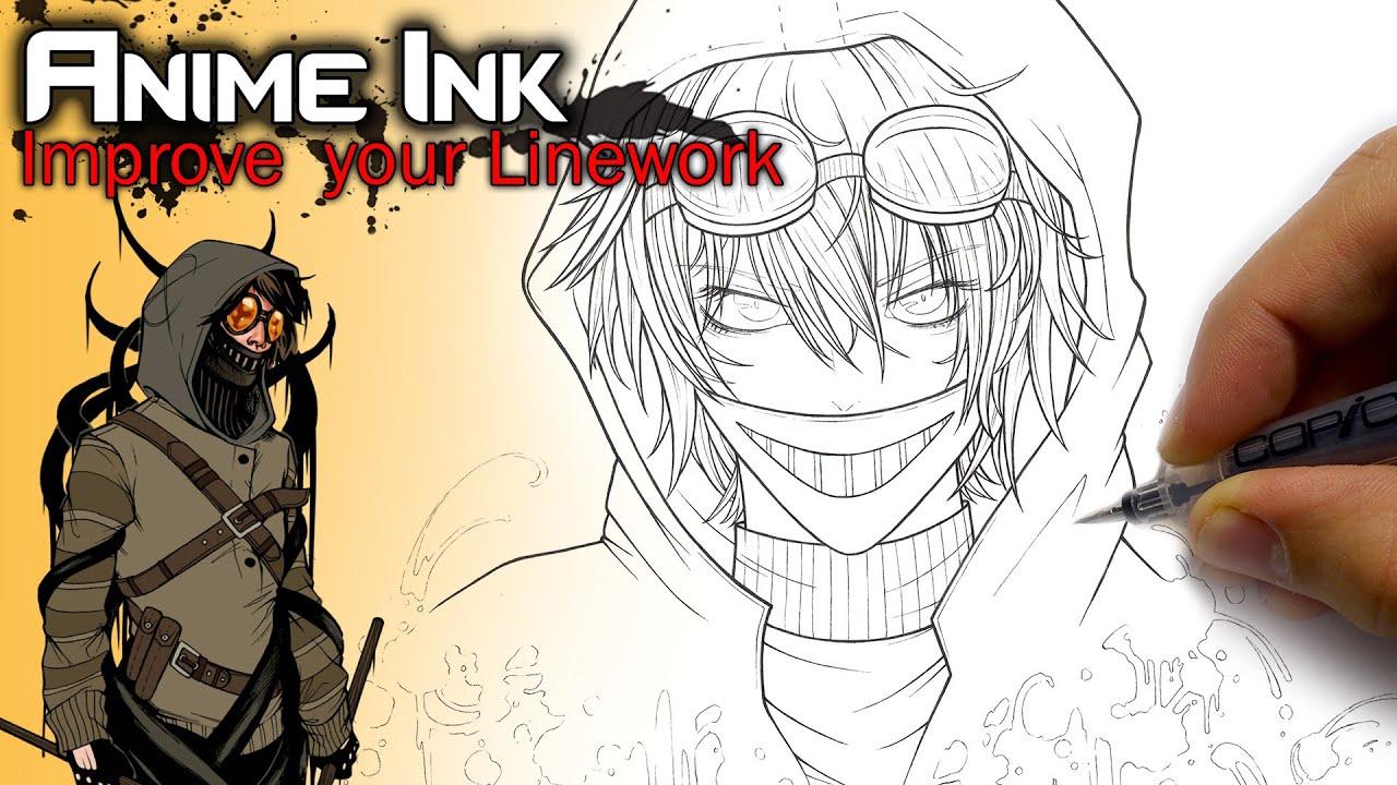 ticci toby creepypasta drawing inking youtube