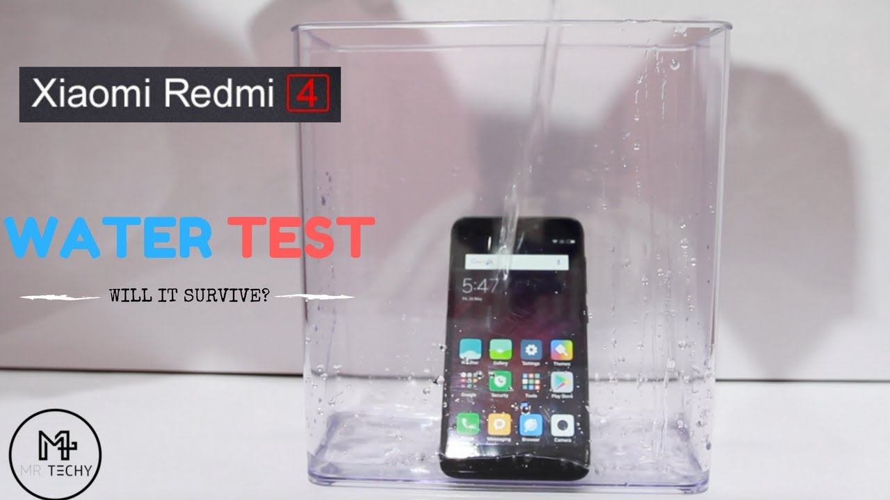 detailed pictures 135e1 7856c Xiaomi Redmi 4 - Water Test | Redmi 4 is Waterproof Or Not? | PART 1 [  Hindi ]