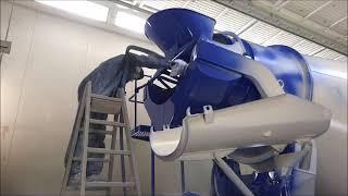 Lackierung von Betonmischern mit BLO-Farbspritztechnologie
