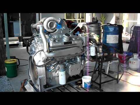 Detroit Diesel 8V92 rebuild first start up Australia - YouTube