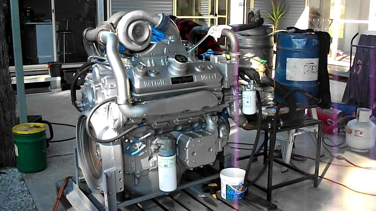 Detroit Diesel 8V92 rebuild first start up Australia