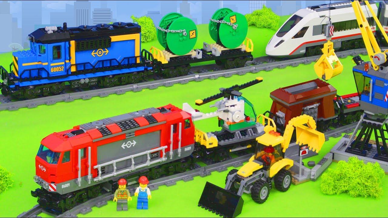 Lego City Zug Spielzeugautos Bagger Lastwagen Kran Züge