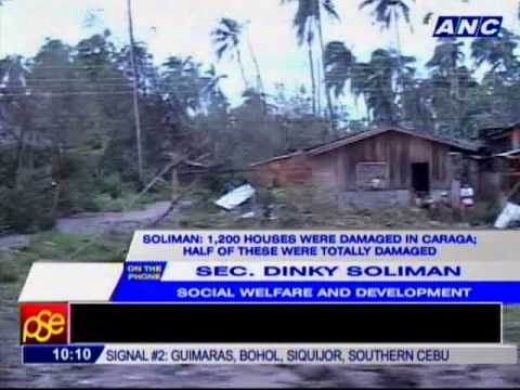 DSWD: Augmentation of relief goods needed in Davao Oriental, Compostela Valley.