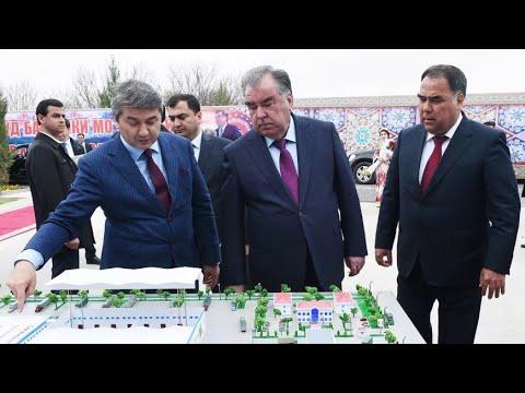 Рахмон открыл новую школу в Согдийской области Таджикистана