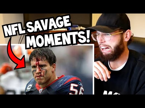 Rugby Player Reacts to NFL Football's MOST SAVAGE MOMENTS!