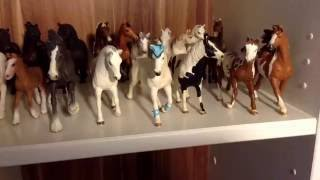 Моя коллекция лошадок schleich))