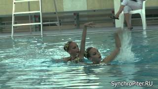 Синхронное плавание. Дуэт 17. СПб - март 2014