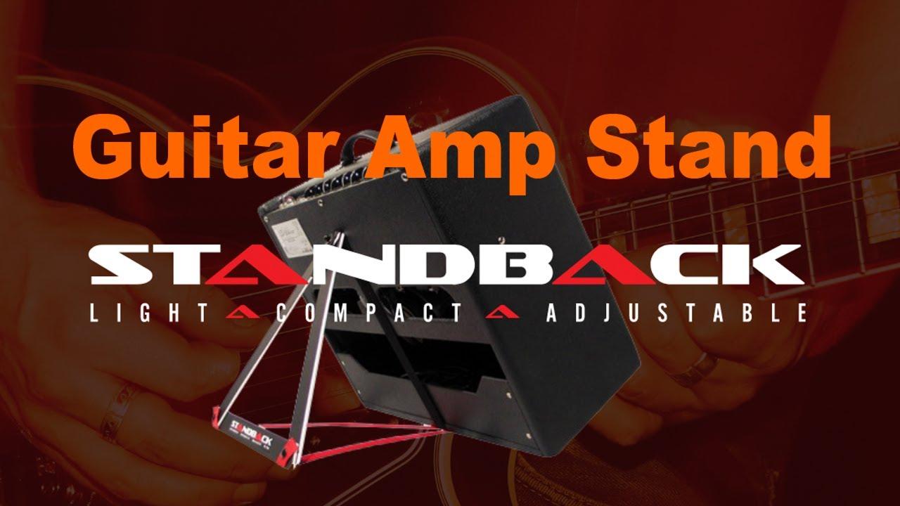 standback guitar amp tilt back stand at namm 2018 mikesgigtv youtube. Black Bedroom Furniture Sets. Home Design Ideas