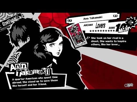 Persona 5 - Ann (Lovers) Confidant [All Ranks]