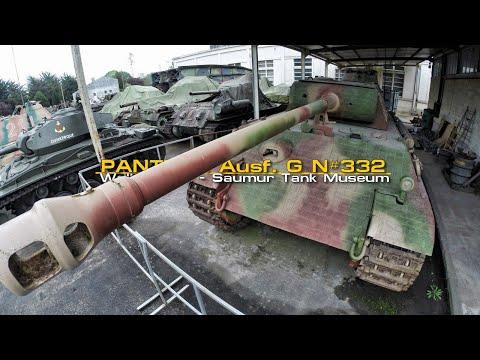 """Panther Ausf. G """"N#332"""" Walkaround - Saumur Tank Museum - Musée Des Blindés"""
