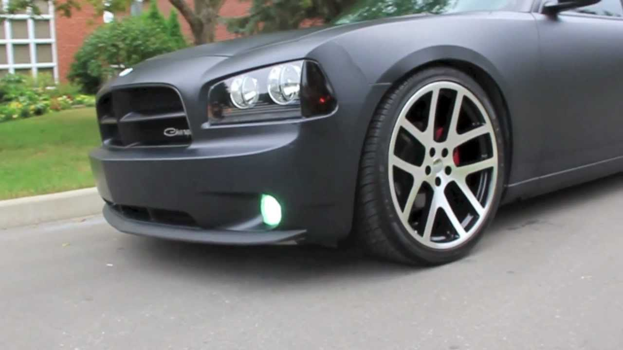 Black And Silver Mags >> Matte Black Dodge Charger Viper Machined Faced Rims - YouTube