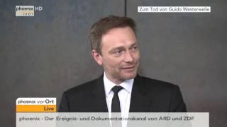 Zum Tod von Guido Westerwelle: Statement von Christian Lindner am 18.03.2016