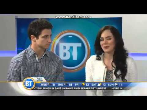 Tessa Virtue and Scott Moir - Breakfast Television Montreal