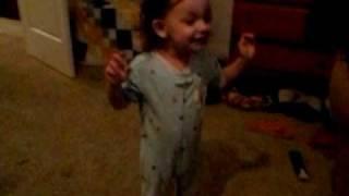 baby singing paparazzi