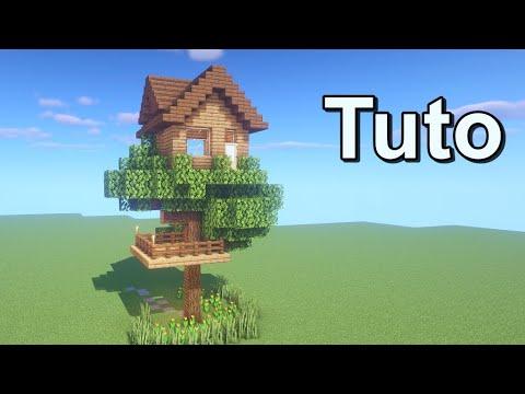 comment faire une maison sur un arbre dans minecraft tutoriel youtube. Black Bedroom Furniture Sets. Home Design Ideas
