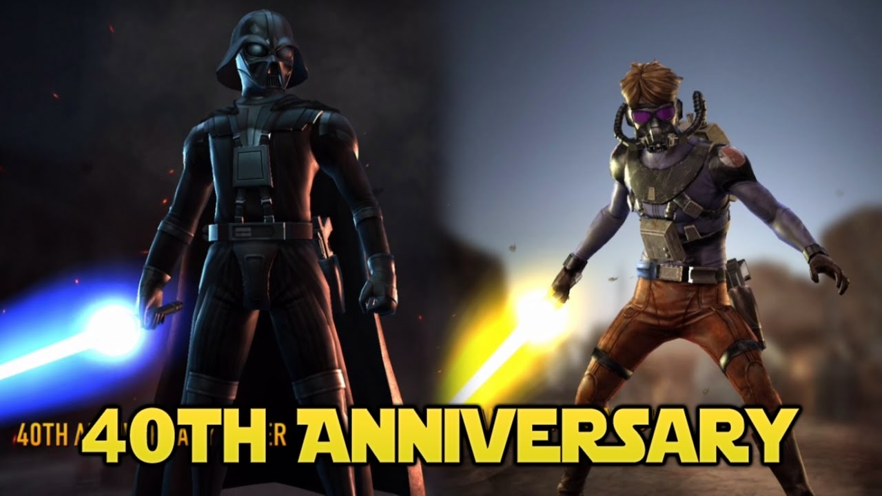 Th anniversary luke and vader star wars force arena